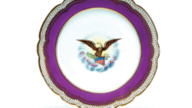 Lincoln's porcelain plate