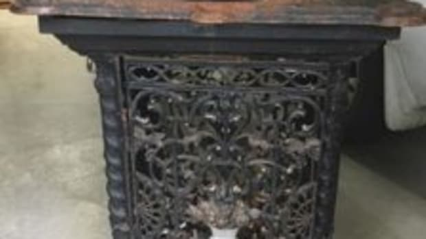 Antique appraisal for this radiator guard converted into a sink