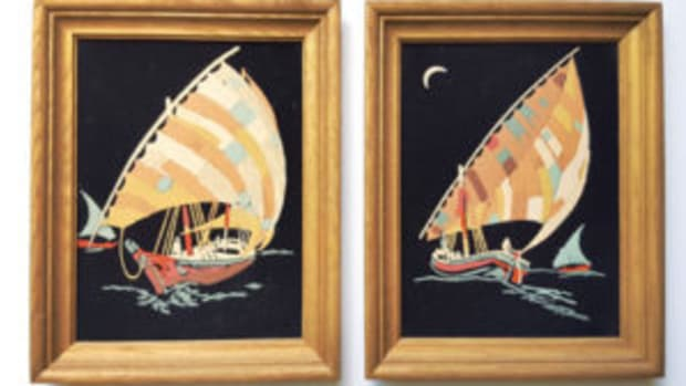 Sailboats on Black Velvet paint by numbers