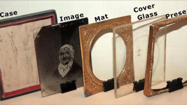 Exploded view of photographic case