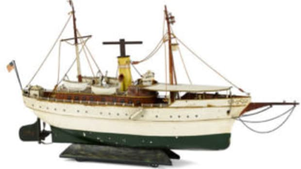 Marklin clockwork riverboat