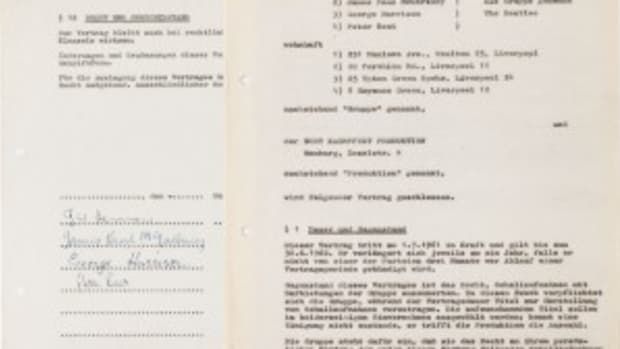 Beatles contract