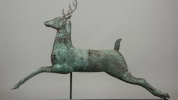 stag copper weathervane