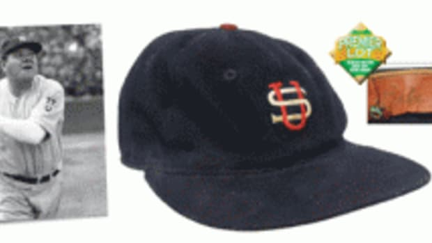 Ruth game-worn cap