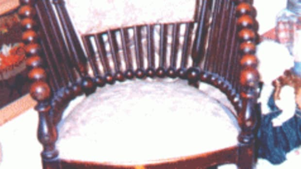 """This """"lollipop"""" chair, designed and patented by American chair maker George Hunzinger. (Photo courtesy Fred Taylor)"""
