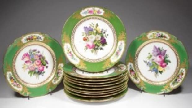 French Vieu Paris Feuillet plates