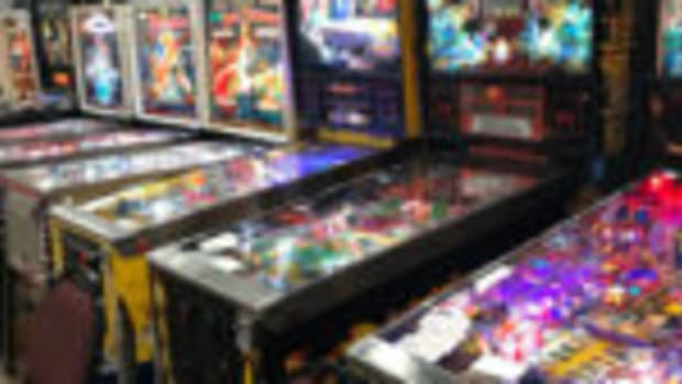 Pinball machines at the Chicagoland coin-op and advertising show. Photo courtesy Tilt Promotions