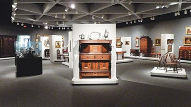 "The first look at the Gallery shows you panorama of American antique furniture that yells out to you ""Hurry"" but don't. All photos courtesy of Fred Taylor."