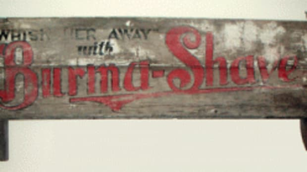 Burma-Shave Bench Back