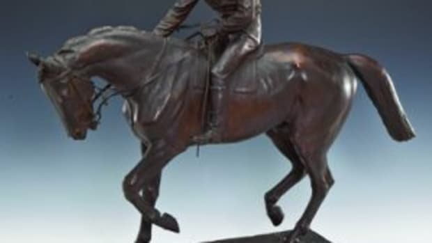 "Bronze ""Le Grand Jockey"" sculpture"