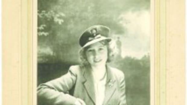 Photo of Princess Elizabeth, who became Queen Elizabeth the II, circa 1942.