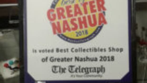 Snap! It's Vintage earned the Greater Nashua award for Best Collectibles Shop in 2018.