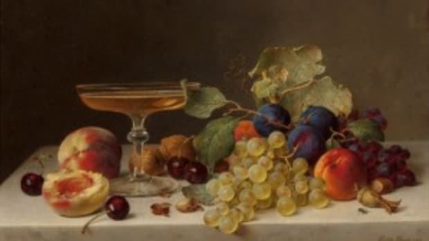 Still Life Summer Fruit and Champagne