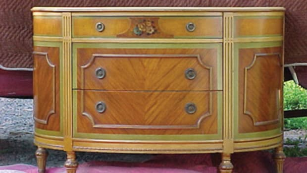 This chest or dresser was actually designed for use as a hall or entryway piece with a mirror mounted on the wall over it. Submitted photo