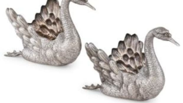 Buccellati sterling swans