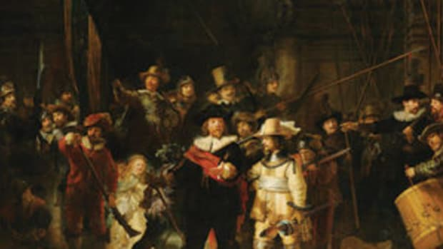 "An estimated $3.4 million restoration of Rembrandt's 17th century masterpiece, ""The Night Watch,"" can be viewed live online at rijksmuseum.nl/en/nightwatch."