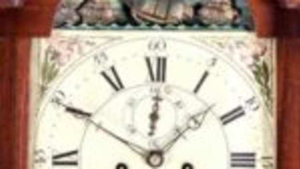 Simon Willard rocking ship tall case clock, $9,000
