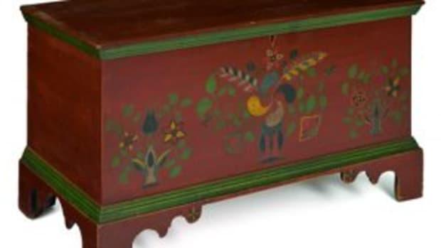 Painted Americana poplar chest