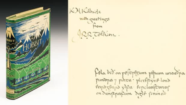 The Hobbit Book_First edition inscription