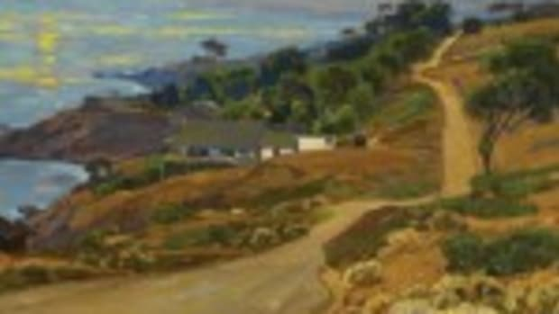 """The Old Coast Road"" painting"