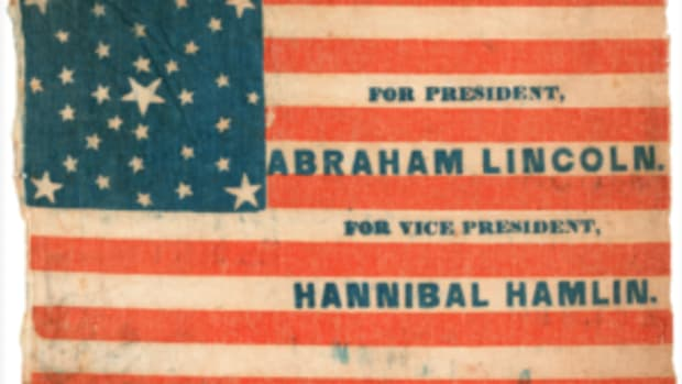 1860 campaign flag