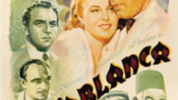 Casablanca, Italian release vintage poster