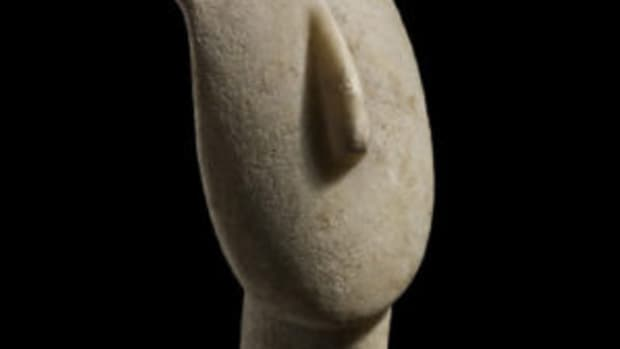 cycladic marble head sculpture