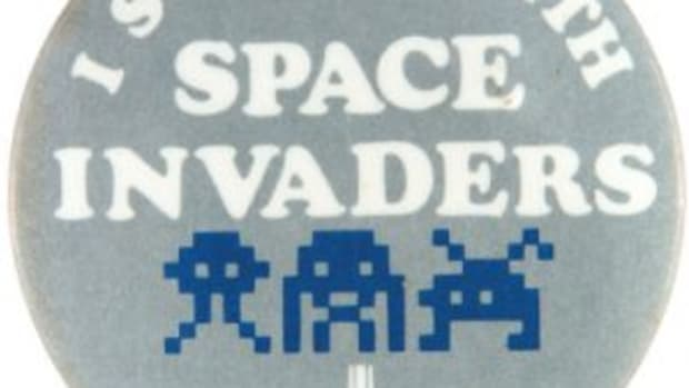 Space Invaders pinback