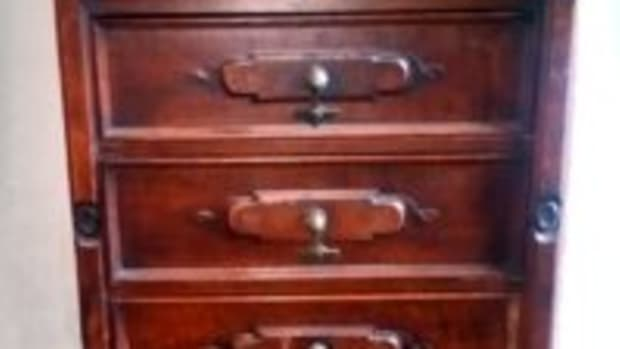 Walnut side-lock dresser