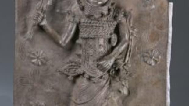 Benin palace plaque