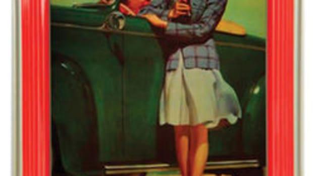 1942 Coca-Cola Tray, as seen in The Martin Guide to Coca-Cola Memorabilia (used with permission)
