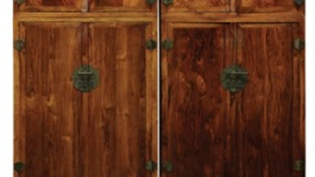 Chinese hardwood and huanghuali compound cabinets