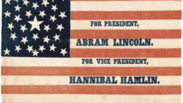Lincoln Hamlin campaign flag