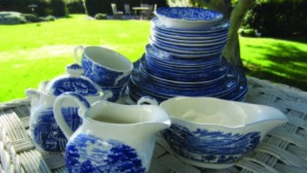 Liberty Blue dishware