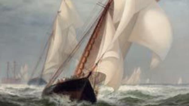Edward Moran yacht American painting