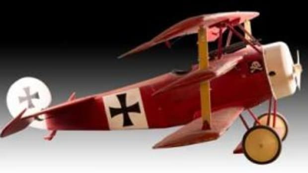 red baron model airplane