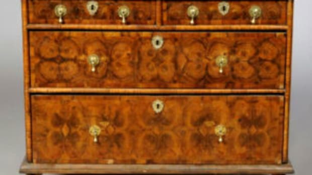 oyster veneer on William and Mary chest