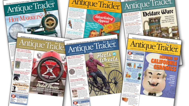 Single copy digital issues of Antique Trader are available at KrauseBooks.com.