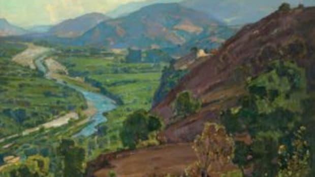 Santa Ana Canyon painting