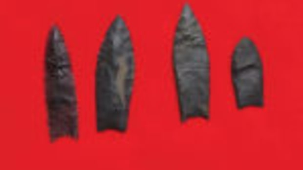 Cache of Clovis arrowheads