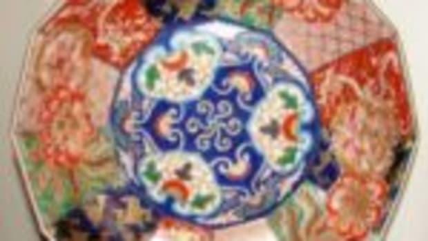 12-sided Imari bowl
