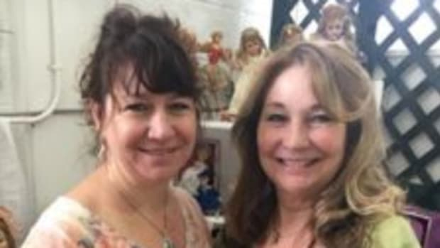 My Little Dolls co-founder Jennifer Moyer, left, lives in Pasadena, Maryland, while her mother, co-founder Cheryl Hoiler, lives in Virginia. Photo courtesy My Little Dolls