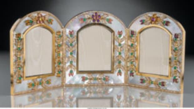Asprey tri-fold frame