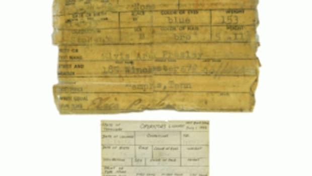Elvis' driver's license