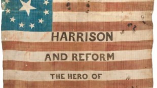 Harrison campaign flag banner