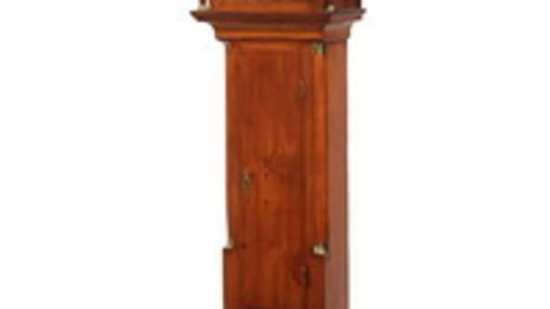 Hepplewhite period mahogany tall case clock