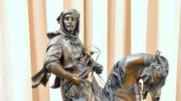 Bronze Arabian statue