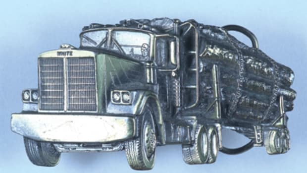 Log truck buckle