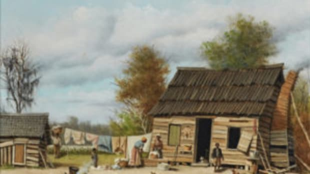 Walker's 'Cabin Scene' painting