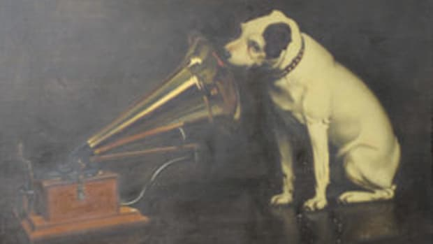 F Barraud (1856-1924) His Master's Voice, $59,375